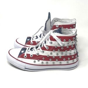 Converse Stars and Stripes Studded Chuck Taylor